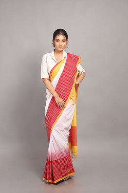 Sasha-Handloom Saree with blouse piece-1