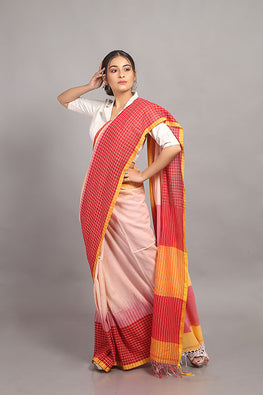 Sasha-Handloom Saree with blouse piece-4