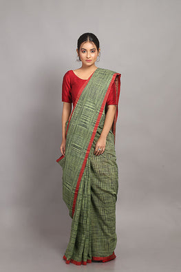 Sasha-Handloom Saree with blouse piece-7