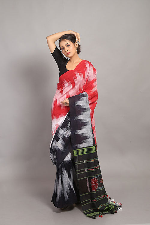 Sasha-Handloom Saree with blouse piece-10
