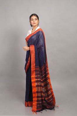 Sasha-Handloom Saree with blouse piece-12