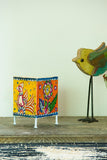 StudioMoya 'Wanderlust Bloom' Hand-painted On Leather Square Tea Light