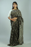 Kashish Dabu Handblock Print Chanderi Silk Saree-34