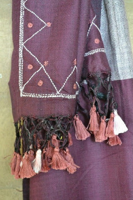 "Porgai ""Harvest"" Lambadi Hand Embroidered Handwoven Silk Stole"