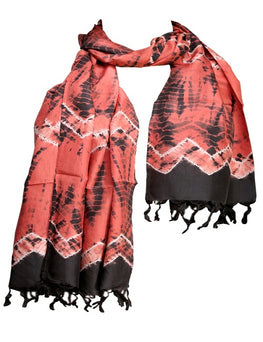 Okhai Rust Indian Madder Silk Shibori Stole