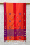 Shrujan Multi-Colour 'Pakko' Hand Embroidered Handwoven Cotton Silk Stole