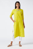 Okhai 'Surya' Embroidered Cotton Kurta