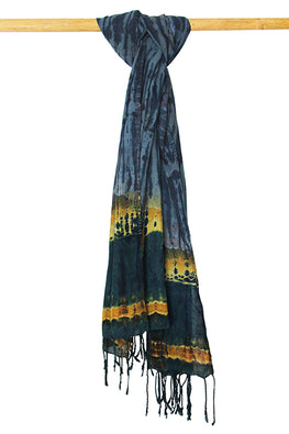 Creative Bee 'TARANG' Natural Dye Shibori Cotton Stole