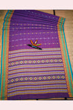 SHIPCO Handloom Cotton Purple Saree