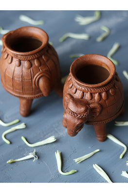 Okhai 'Maham' Terracotta Diya (set Of 2)