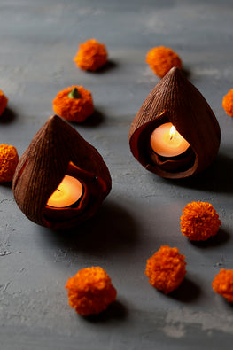Okhai 'Modak' Terracotta Diya (Set Of 3)