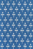 Pure Fine Cotton Eco FriendlyDyed Weft Ikat Fabric (3 mtrs)