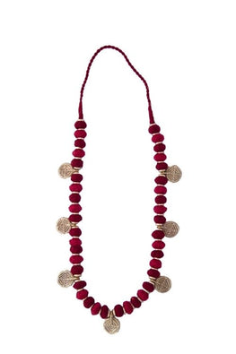 Miharu Red Gold Tone Necklace