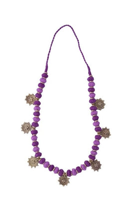 Miharu Purple Gold Tone Necklace
