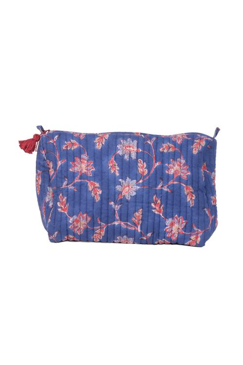 Okhai 'Companion' Cotton Handblock Printed Quilted Travel Pouches