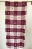 Kotpad' Tribal Odisha Handloom Cotton Isothermal Off white and Maroon Shawl