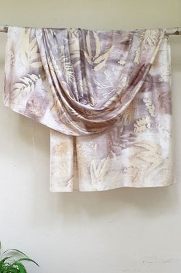 2up 2down-Hand crafted Silk Ecoprint Material