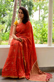2up 2down-Hand crafted Silk Embroidered Shibori Sari-26