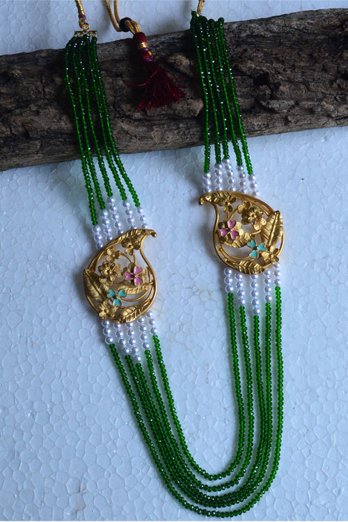 Tant Vastra' Innovative Engraved Beaded Long Necklace Jewelry.