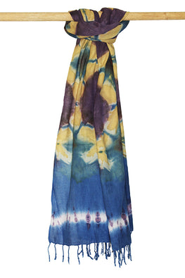 Creative Bee 'UJJAS' Natural Dye Shibori Cotton Stole