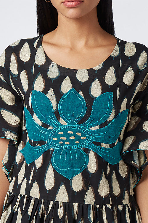 Okhai 'Prima Flora' Appliqué Cotton Dhabu Top
