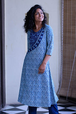"Okhai ""Mithapur Backwaters"" Embroidery Work Kurta"