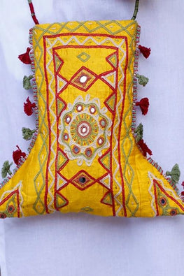 Okhai 'Sunshine' Kutch Embroidery Sling Bag