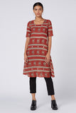 Okhai 'Wanderer' Mirror Work Cotton Hand Block Print Dress