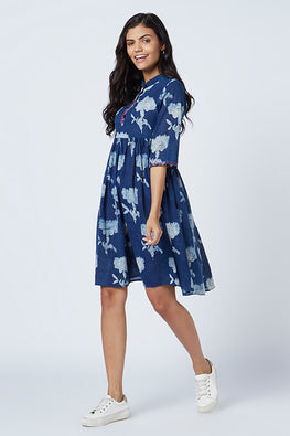 Okhai 'Amalfi' Cotton Hand Block Print Dress