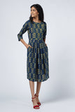 Okhai 'Regal' Ajrakh Block Print Cotton Dress