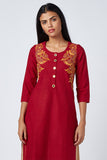 Okhai 'Phoenix' Embroidered Cotton Kurta
