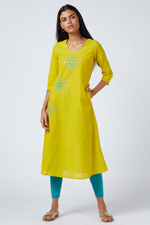 Okhai 'Solstice' Embroidered Cotton Handloom Dress