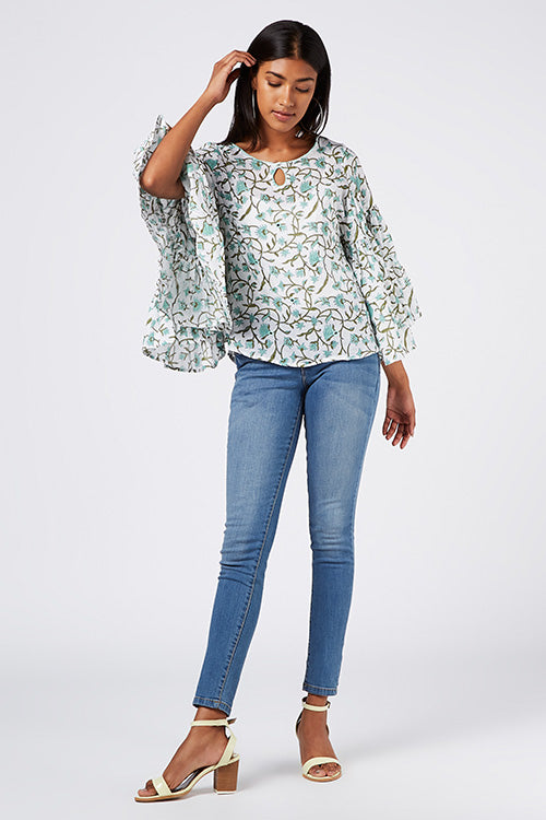 Okhai 'Cruise Party' Cotton Hand Block Print Top