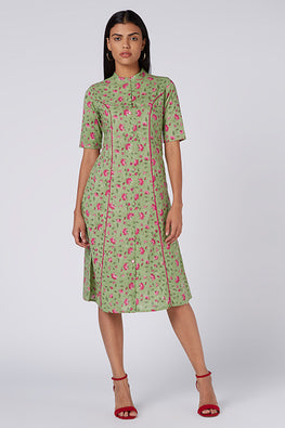 Okhai 'Rejuvenate' Floral Cotton Hand Block Print Kurta