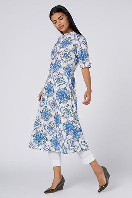 Okhai 'Santorini' Cotton Hand Block Print Dress