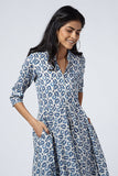 Okhai 'Edna' Cotton Hand Block Print Dress