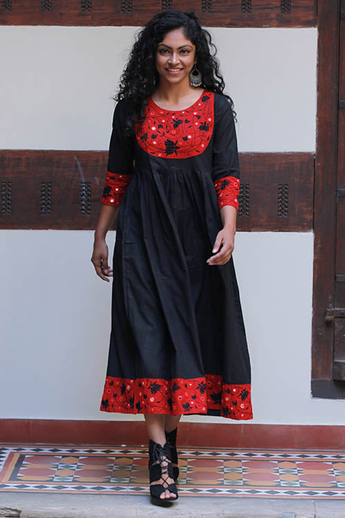 "Okhai ""Spanish Beauty"" Embroidery Work Dress"