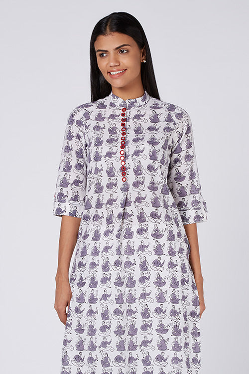 Okhai 'Musical Muse' Hand Blockprinted Kurta