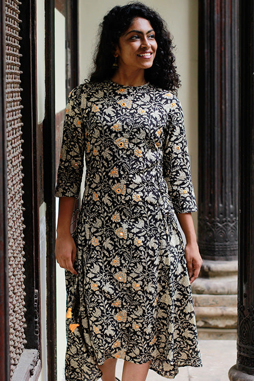 "Okhai "" New Shades"" Kalamkari Dress"