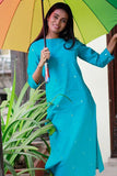 "Okhai ""Pure Aqua"" Embroidery Work Kurta"
