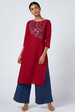 Okhai 'Trailblazer' Embroidered Cotton Kurta