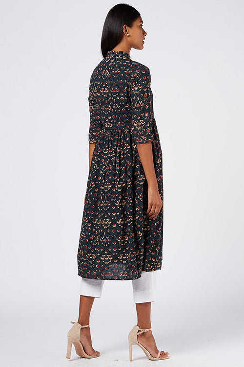 Okhai 'Summer Night' Cotton Mul Dhabu Kurta