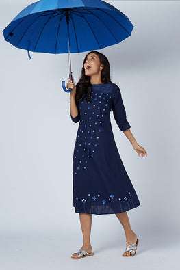 Okhai 'Sacred Showers' Embroidered Cotton Dress
