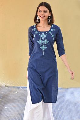 Okhai 'Enchantress' Embroidered Cotton Kurta