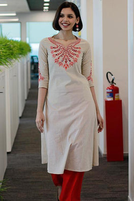 "Okhai ""Pearl Peacock"" Embroidery Work Dress"