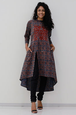 Okhai 'Heirloom' Appliqué Work Ajrakh Kurta
