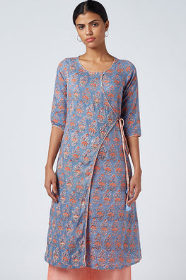 Okhai 'Summer Feeling' Cotton Hand Block Printed Dress