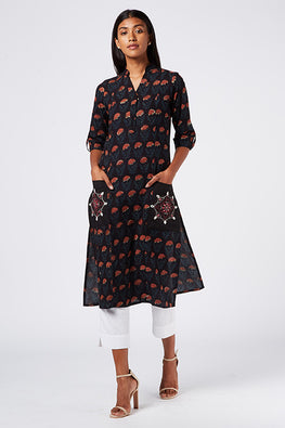 Okhai 'Night Flowers' Cotton Dhabu Kurta