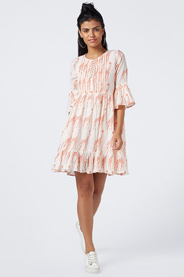 Okhai 'Pink Safari' Cotton Mul Summer Dress
