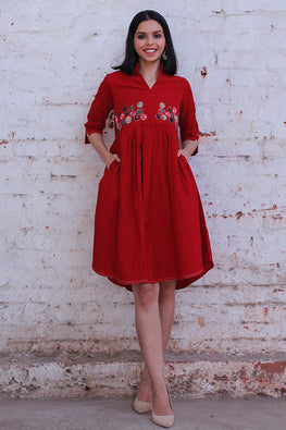 Okhai 'Patchwork Heart' Cotton Dress